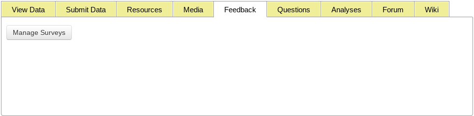 Feedback Tab Tools Highlighted in User Profile