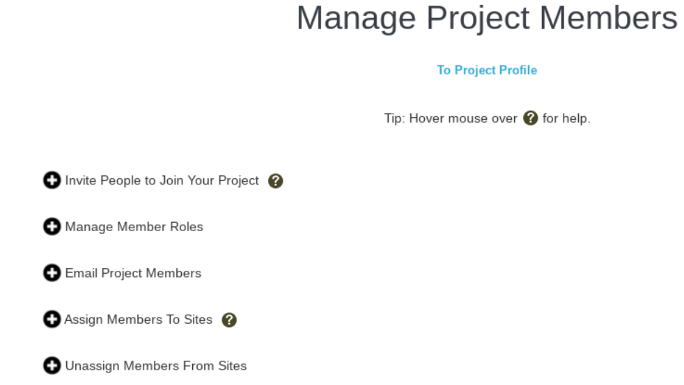 Tools to Edit and Manage Project Members