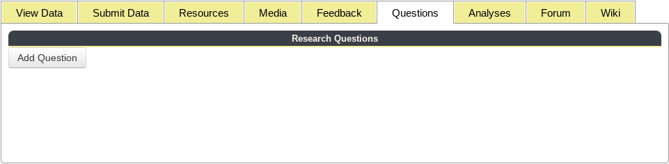 Questions Tab Tools Highlighted in Project Profile