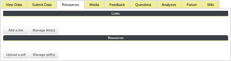Resources Tab Tools Highlighted Under Project Profile